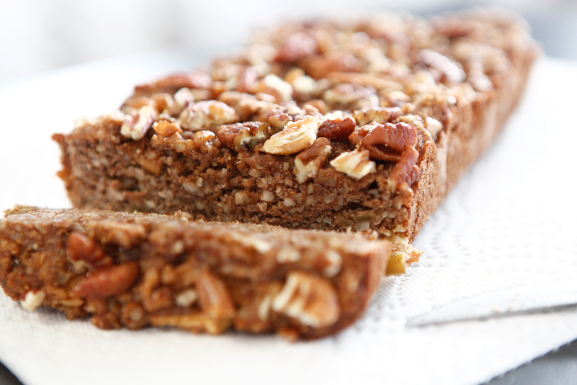 Raw Honey Cinnamon Paleo Bread